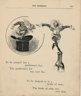 Vintage Print, So he jumped into a gentleman's hat..., 1895