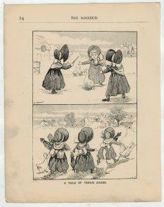 Vintage Print, A tale of Three Geese, Louis Wain, 1890