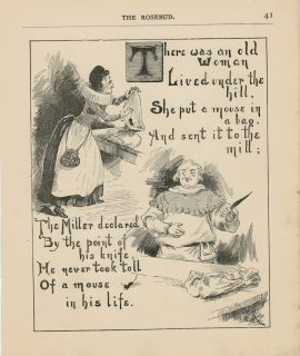 Vintage Print, There was an old woman... 1890