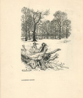 Vintage Print, Kensington Gardens, by Arthur Rackham, 1912