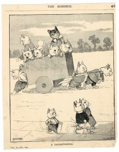 Vintage print, Cats, by Louis Wain