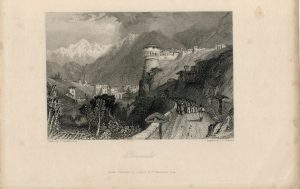 Rare Antique Engraving Print, Roveredo, 1836