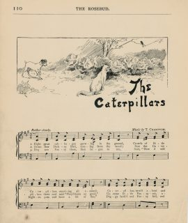 Vintage Print, The Caterpillars; Skipping, 1890