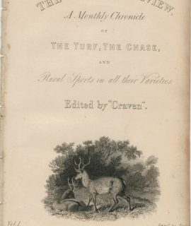 Antique Engraving Print, The Sporting Review, 1839