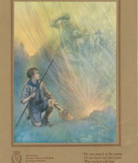 Vintage Print, Boy Scout Gift, by Eugene Hastain, 1914