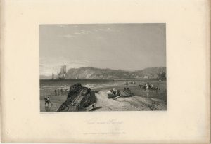 Antique Engraving Print, View near Havre, 1836