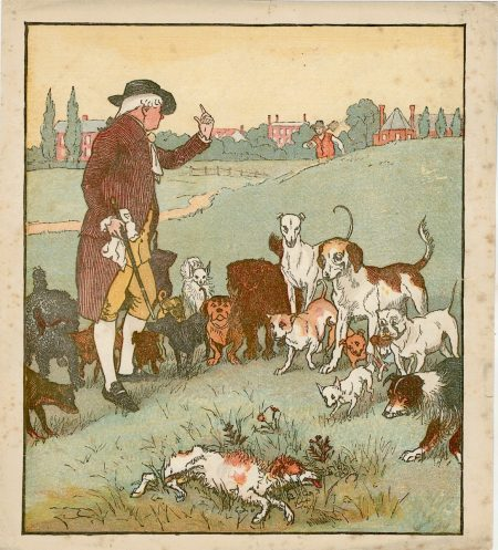 Vintage Print, The dogs, 1890