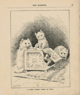 Vintage Print, A Very Funny Piece of Coal, Louis Wain, 1890