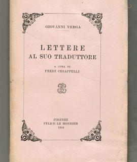 G. Verga, Lettere al suo traduttore, Le Monnier, Firenze, 1954