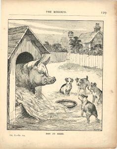 Vintage print by Louis Wain, 1890
