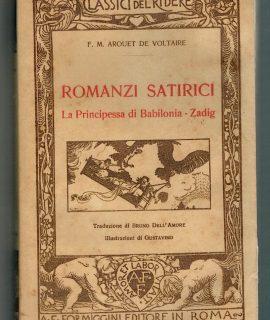 F.M. Arquet de Voltaire, Romanzi satirici, La principessa di Babilonia, Zadig, Formiggini, 1926