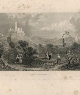 Antique Engraving Print, Ruine Godesberg, 1835