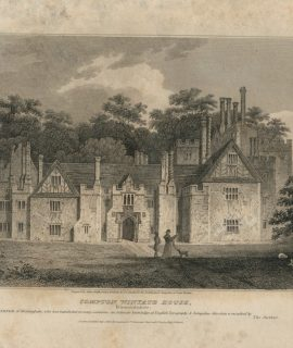 Antique Engraving Print, Compton Winyate House, 1808