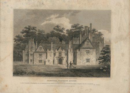 Antique Engraving Print, Compton Winyate House, 1808