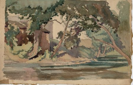 Vintage Original Water Color, 1960 ca.