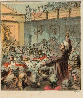Vintage Print, Burke, the Great Orator, 1890
