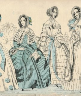Antique Print, Ladies, 1830