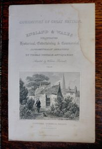 Antique Engraving Print, Cowper Summer House, 1845