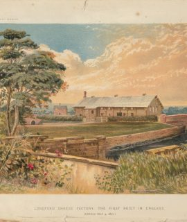 Vintage Print, Longford Cheese Factory, The First Built in England, 1870