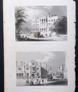 Antique Engraving Print, Licensed Victuallers' School: School for the Indigent Blind, 1850