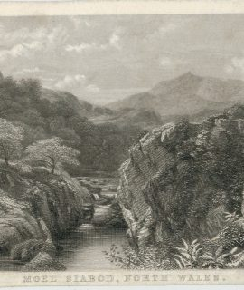 Antique Engraving Print, Moel Siabod, North Wales, 1830