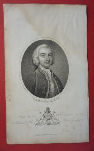 Antique Engraving Print, Sir John Moore Bart K B, Admiral of the Blue Squadron, engraved by Ridley, 1804
