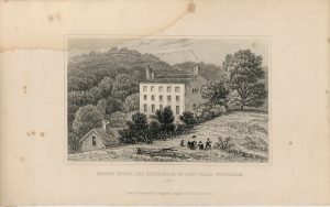 Antique Engraving Print, Quebec House, The Birth-Place of Gen. Wolfe, Westerham, 1840