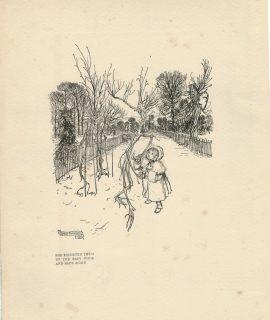 Rare Vintage Print, by Arthur Rackham, 1912