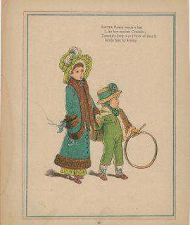 Vintage Print, Nursery Rimes, 1910, signed K.G.