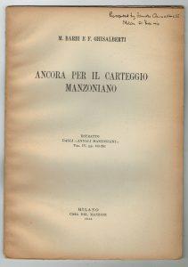 De Coureil, Monti, Manzoni, Leopardi