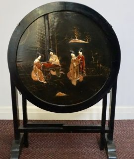 Antique Handmade Oriental Lacquered Coffee Table, 1850