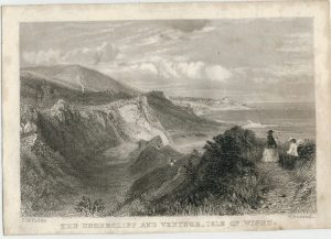 Antique Engraving Print, The Undercliff and Ventnor, Isle of Wight, 1850