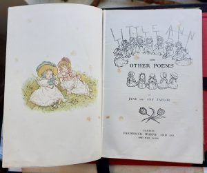 Antique Book, Little Ann, by Jane and Ann Taylor, 1882