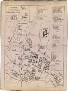 Antique Map, British Association Oxford 1860