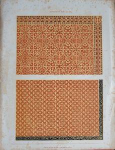 Antique Print, Mosaic, Minton & C.