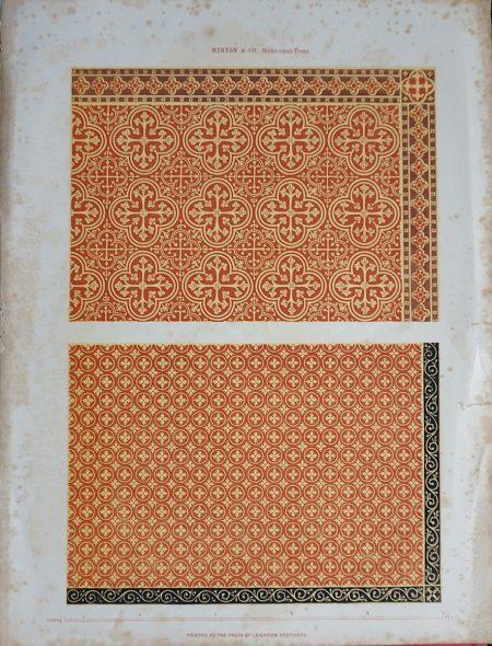 Antique Print, Mosaic, Minton & C. 1850
