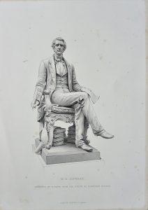 Antique Engraving Print, W.H. Seward, 1877