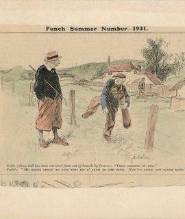 Vintage Print, Punch Summer, 1931 by Bertram Prance