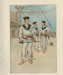 Vintage Print, A Boarding Party, 1890