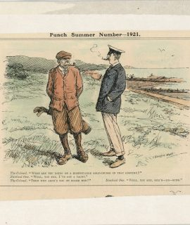 Vintage print, Punch Summer Number, 1921 by Leonard Raven-Hill