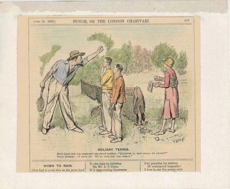 Vintage Print, Holiday Tennis, June 23, 1926