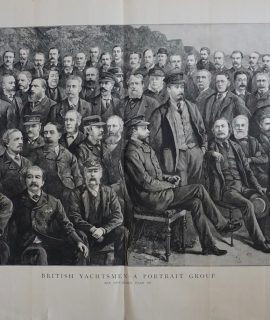 Antique Print, British Yatchtsmen-A Portrait Group, 1884
