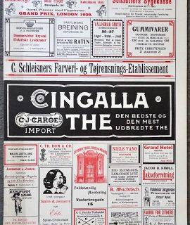Vintage Advertising Print, Cingalla The, Gummivarer... 1911