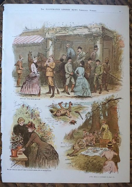 Antique Print from the Illustrated London News, Christmas Number, 1884