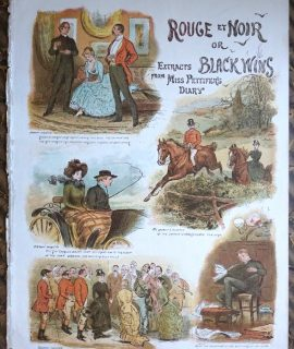 Antique Print, Rouge et Noir or Extracts Black Wins from Miss Pettifer's Diary, 1884