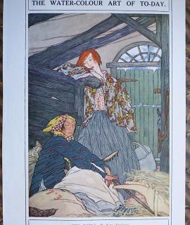 Vintage Print, The Barn, by Nora England, 1919