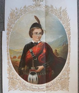 Antique Print, Albert Edward Prince of Wales, 1859