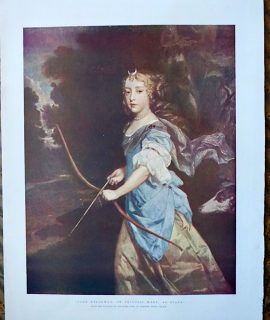 Jane Kelleway, or Princess Mary, as Diana by Peter Lely, 1890