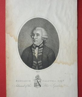 Antique Engraving Print, Benjamin Caldwell, Esq. 1804