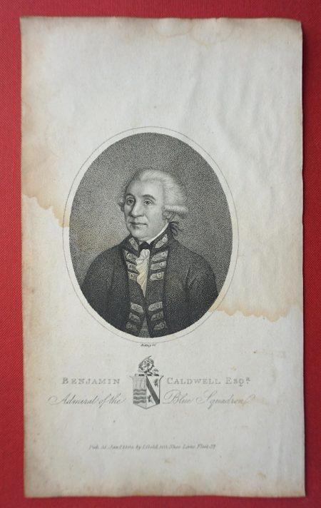 Antique Engraving Print, Benjamin Caldwell, Esq. 1804